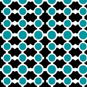 Chain Links Black & Blue
