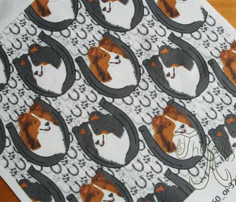Shetland sheepdog horseshoe portraits - small