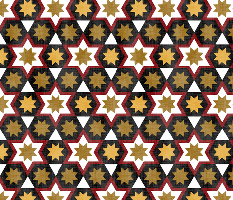 Stars & Hexagons fabric by pond_ripple on Spoonflower - custom fabric