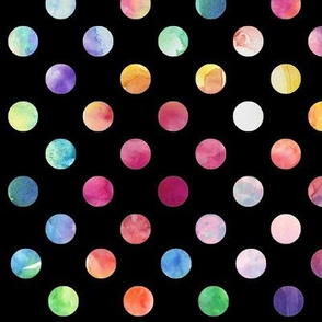 Watercolour Dots (black variant)