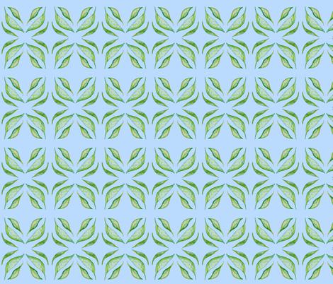 Gum Leaf Lattice fabric by rhondadesigns on Spoonflower - custom fabric