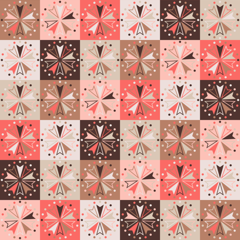 Circus Squares - Baby Foxes fabric by siya on Spoonflower - custom fabric