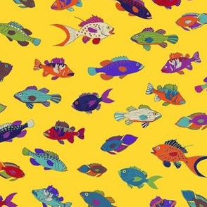 Tropical Fish - Yellow