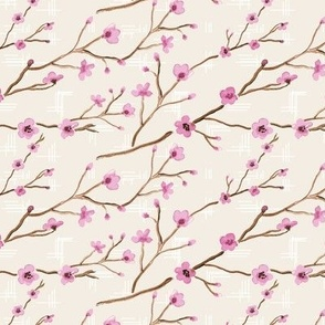 16-08J Cherry Blossom Watercolor Cream_Miss Chiff Designs