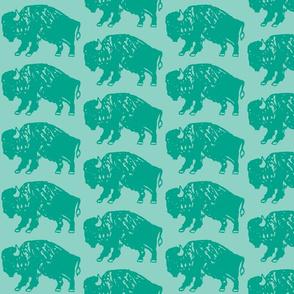 Bison Print - Aqua