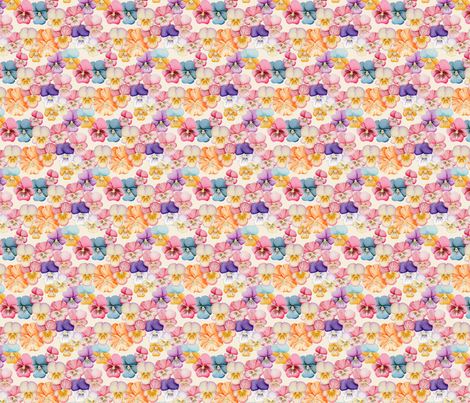 Watercolor Pansy fabric by blairfully_made on Spoonflower - custom fabric
