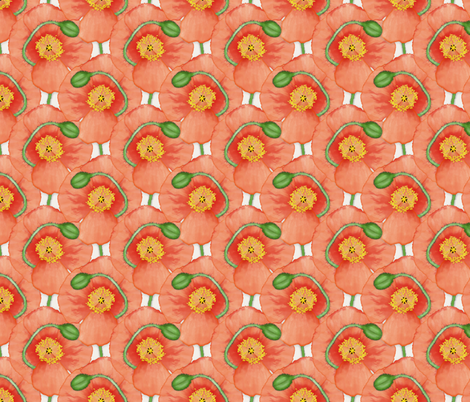 Painted_Poppy fabric by j9design on Spoonflower - custom fabric