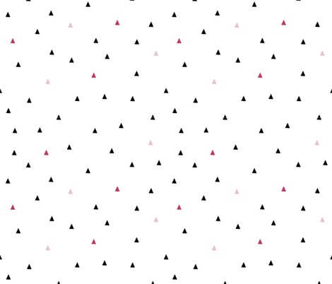 Triangles-Black and Pink fabric by fat_bird_designs on Spoonflower - custom fabric