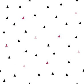 Triangles-Black and Pink