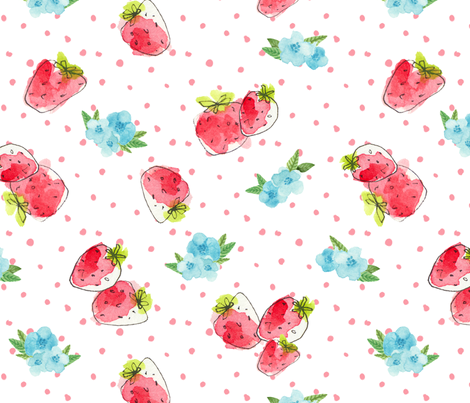 Strawberry Fields fabric by kozihut on Spoonflower - custom fabric