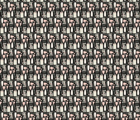 Love and Champagne  fabric by screamingsquirrelstudio on Spoonflower - custom fabric