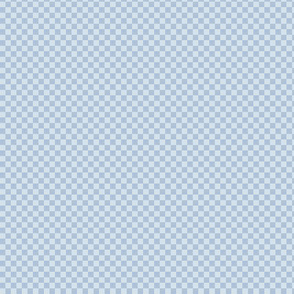 Tiny pale blue checker