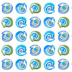 blue-green watercolor swirls