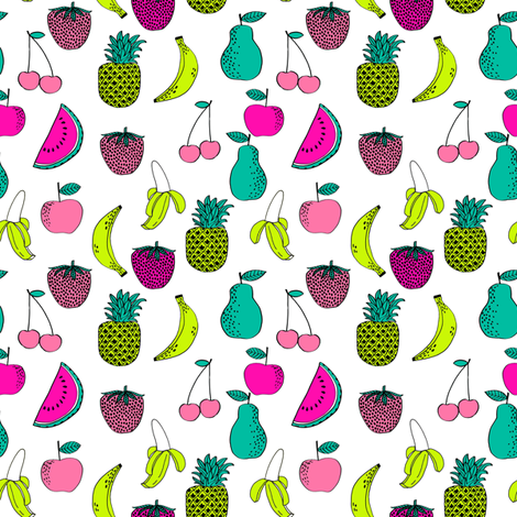 Fruit fruits summer tropical pineapple exotic tropical for Kids print fabric
