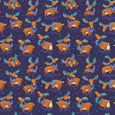 Rainbow Moose fabric by penguinhouse on Spoonflower - custom fabric