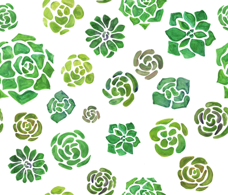 Mojave Succulent Fabric  fabric by spottedpepperdesigns on Spoonflower - custom fabric