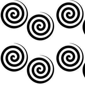 Black Spiral Spiral Swirl