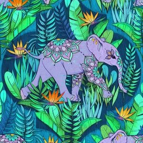 Little Elephant on a Jungle Adventure - dark version