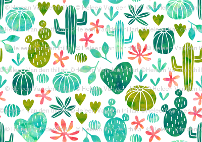 Cacti in watercolor