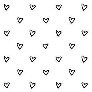 black white heart