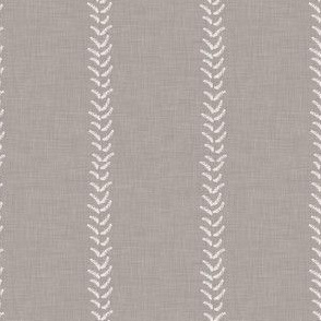 Gray Grey Beige Taupe Linen White Stripe