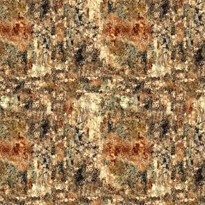 Brown textural marks