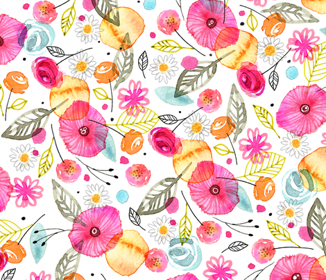 Poppies fabric by jennartdesigns on Spoonflower - custom fabric