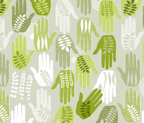 Mother Earth fabric by spellstone on Spoonflower - custom fabric
