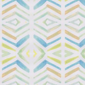 Watercolour pleat design