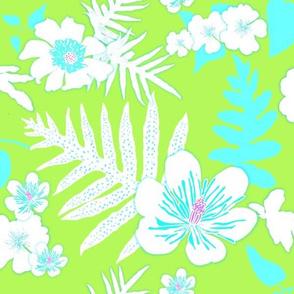Lime Bold Fern Floral 150