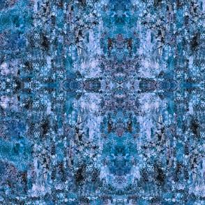Blue Texture Bubbles