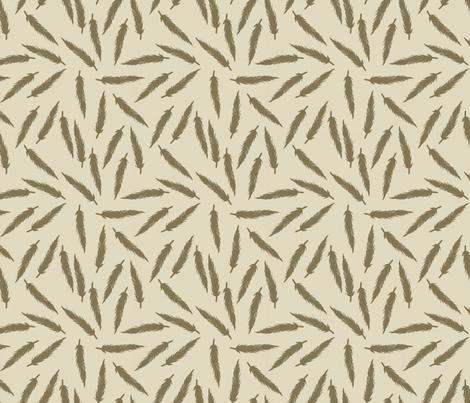 Rebel Feathers Warm Grey fabric by lisabarbero on Spoonflower - custom fabric