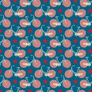 Circus Bicycles (Midi) || bicycling cycling stars vintage boys patriotic