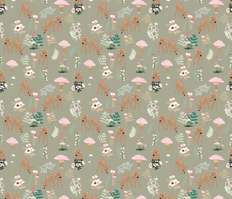 Forest Awakens to Spring fabric by vieiragirl on Spoonflower - custom fabric