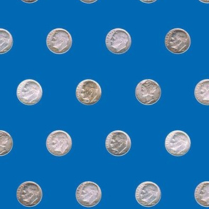 Dean's Silver Dimes ~ Polka Dots on Blue