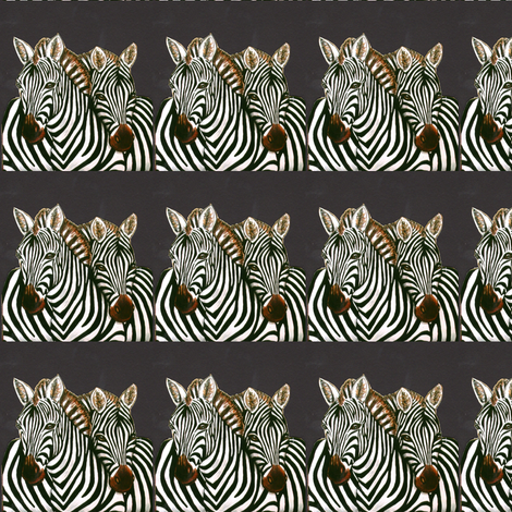 African Zebras on Charcoal fabric by lazella_rosetta on Spoonflower - custom fabric