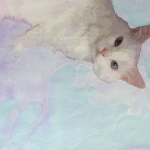 Jack the Cat painted background