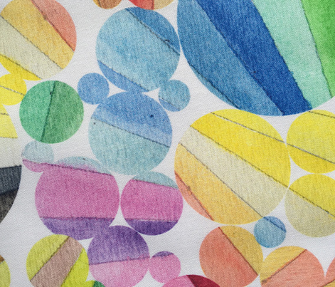 Dewdrops || watercolor color palette wheel circles geometric dots rainbow stripes sun rays