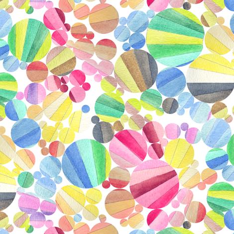 dewdrops watercolor color palette wheel circles geometric dots