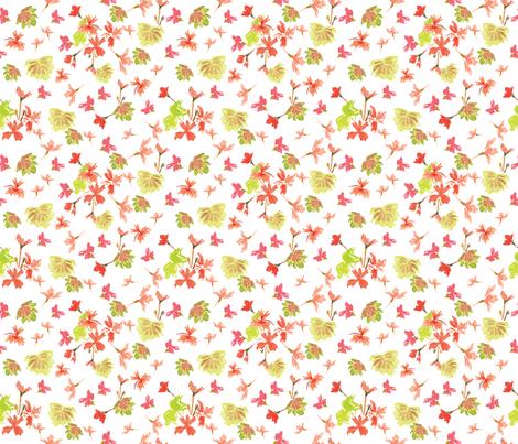 Watercolor Pelargonium 2 fabric by vinpauld on Spoonflower - custom fabric