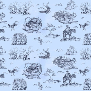 An Unexpected Toile - Blue