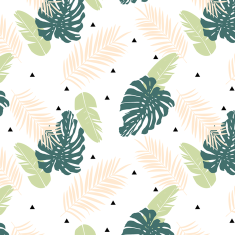 Leaves 3 fabric by mintpeony on Spoonflower - custom fabric