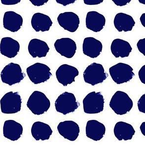 dots jumbo big dots spots indigo summer tropical dye hand-drawn painted painterly artist dots