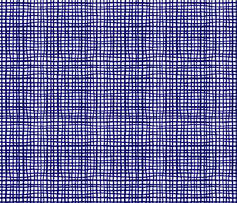 grid indigo summer tropical kids ikat indigo shibori dye dark navy blue interior home decor project fabric by charlottewinter on Spoonflower - custom fabric