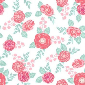 spring flowers florals white pink mint girls sweet flowers florals