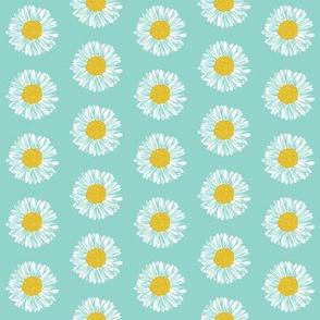daisy spring mint girls sweet flowers florals flower mint nursery baby