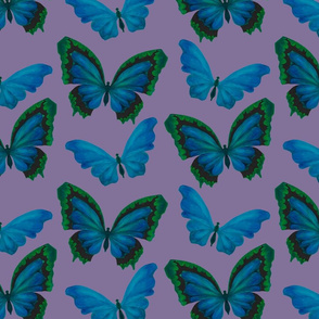 Lavender Butterfly fabric