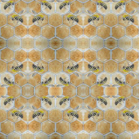 honeycomb fabric by fallingladies on Spoonflower - custom fabric