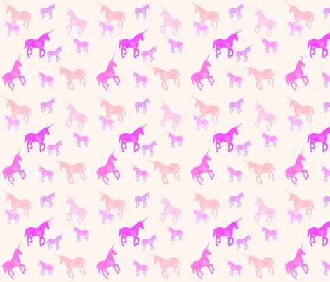 Unicorns fabric by claire_van_der_merwe on Spoonflower - custom fabric