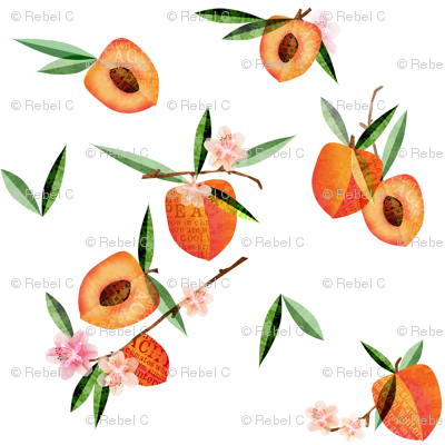 Peaches with space